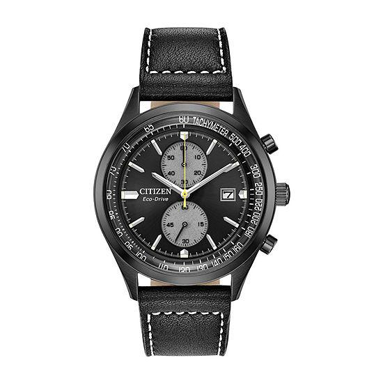 Citizen Mens Black Strap Watch-Ca7027-08e