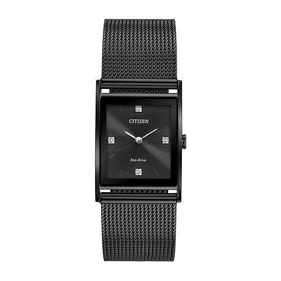 Citizen Axiom Unisex Black Bracelet Watch-Bl6008-53e