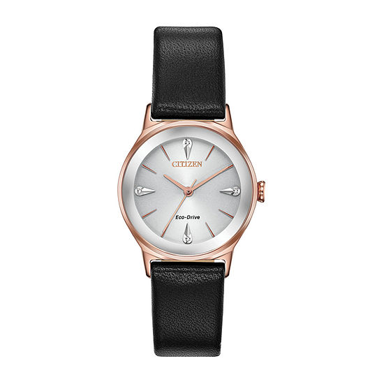 Citizen Womens Black Strap Watch-Em0733-08a