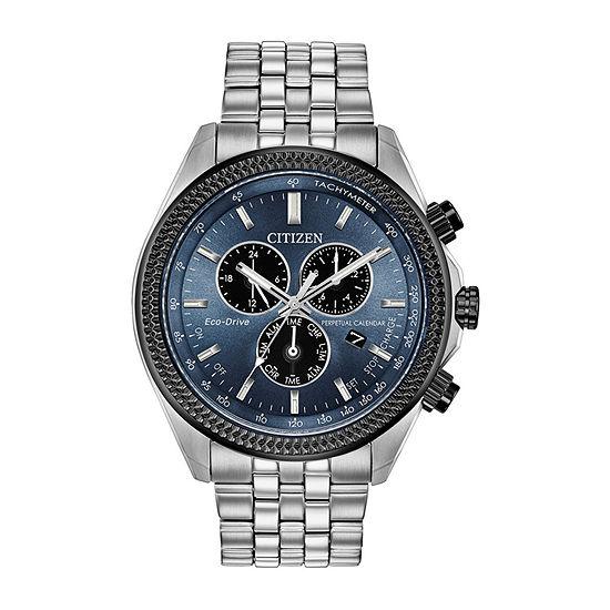 Citizen Mens Silver Tone Bracelet Watch-Bl5568-54l