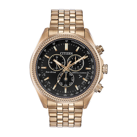 Citizen Brycen Mens Chronograph Rose Goldtone Stainless Steel Bracelet Watch-Bl5563-58e