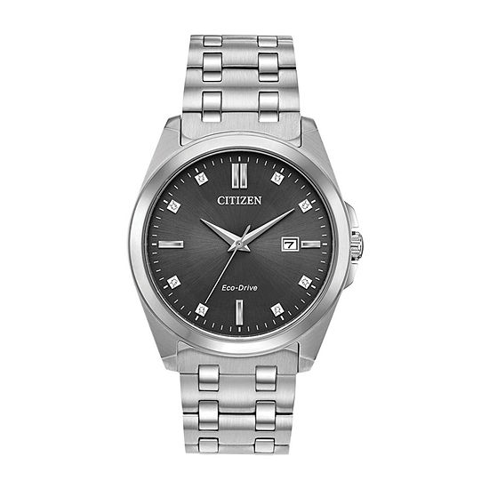 Citizen Corso Mens Silver Tone Stainless Steel Bracelet Watch-Bm7100-59h