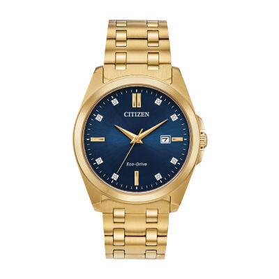 Citizen Mens Gold Tone Bracelet Watch-Bm7103-51l