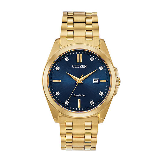 Citizen Corso Mens Gold Tone Stainless Steel Bracelet Watch - Bm7103-51l