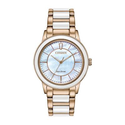 Citizen Womens Rose Goldtone Bracelet Watch-Em0743-55d