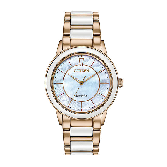 Citizen Womens Rose Goldtone Bracelet Watch Em0743 55d
