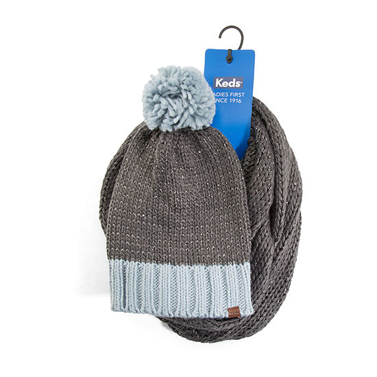 Keds Scarf And Beanie 2-pc. Knit Cold Weather Set