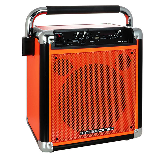 Trexonic Wireless Portable Party Speaker with USB Recording, FM Radio and Microphone