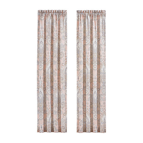 Royal Court Sloane 2 Pair Rod-Pocket Curtain Panels
