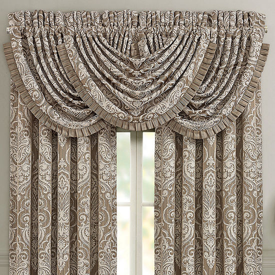 Five Queens Court Stanford Rod-Pocket Waterfall Valance
