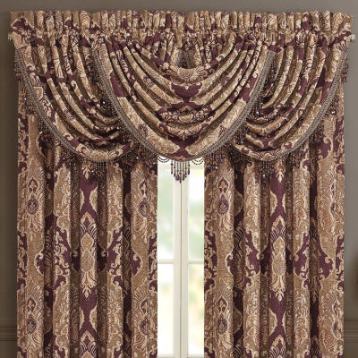 Queen Street Andrea Rod-Pocket Waterfall Valance