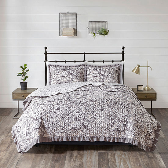 510 Design Bessie 3-pc. Paisley Reversible Coverlet Set
