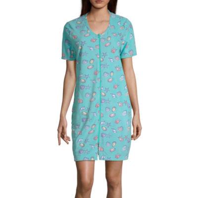 Adonna Womens Short Sleeve Scoop Neck Nightgown