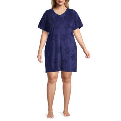 Adonna Womens Short sleeve V Neck Nightgown