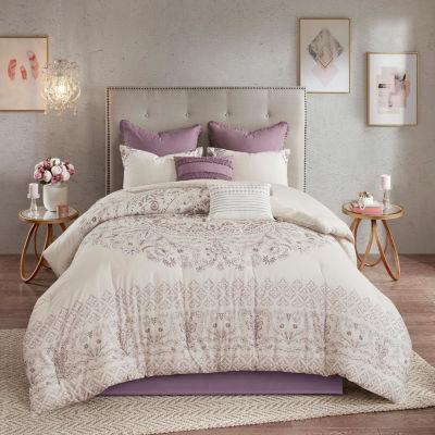 Madison Park Evelyn 8-pc. Cotton Reversible Comforter Set