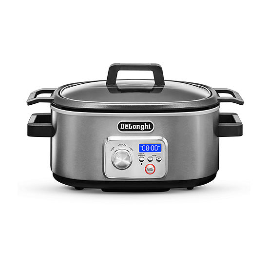 DeLonghi® Livenza Programmable Slow Cooker with Stovetop-Safe Pot