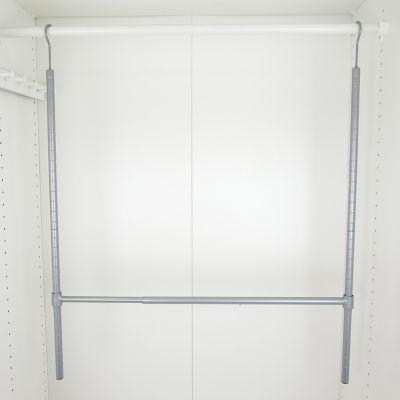 Home Basics Powder Coated Steel 2 Tier Hanging Closet Organizer