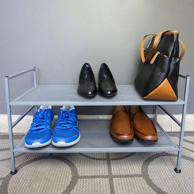 Home Basics 8 Pair Mesh Steel Shoe Rack