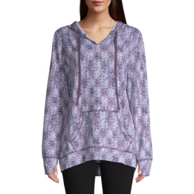 St. John's Bay Active Womens Long Sleeve French Terry Hoodie