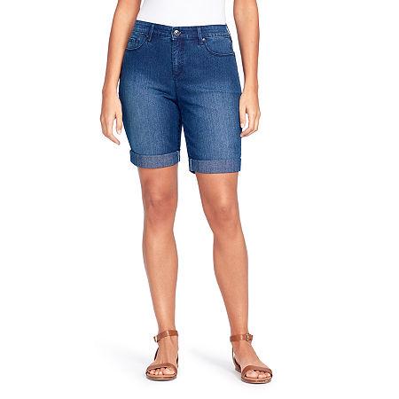 "Gloria Vanderbilt Womens 11"" Bermuda Short, 18 , Blue"