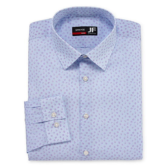 JF J.Ferrar Mens Easy-Care Stretch Long Sleeve Big and Tall Dress Shirt