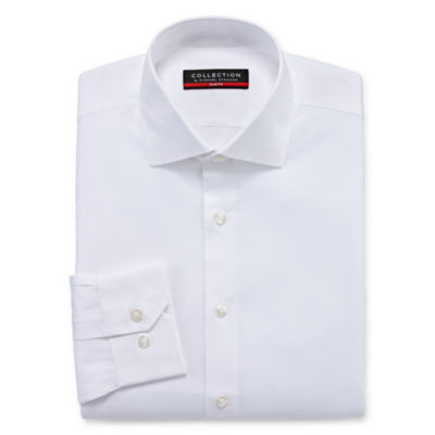 Collection by Michael Strahan Men's Point Collar Long Sleeve Wrinkle Free Stretch Cool + Dry Dress Shirt