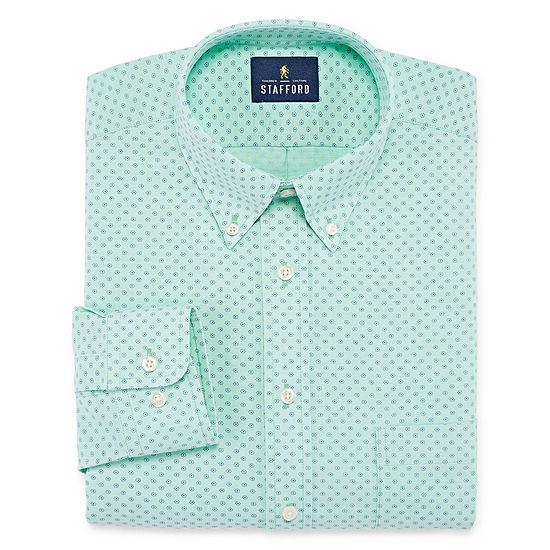 Stafford Travel Stretch Oxford Mens Long Sleeve Dress Shirt