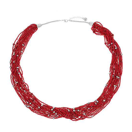 Mixit 30 Inch Bead Collar Necklace