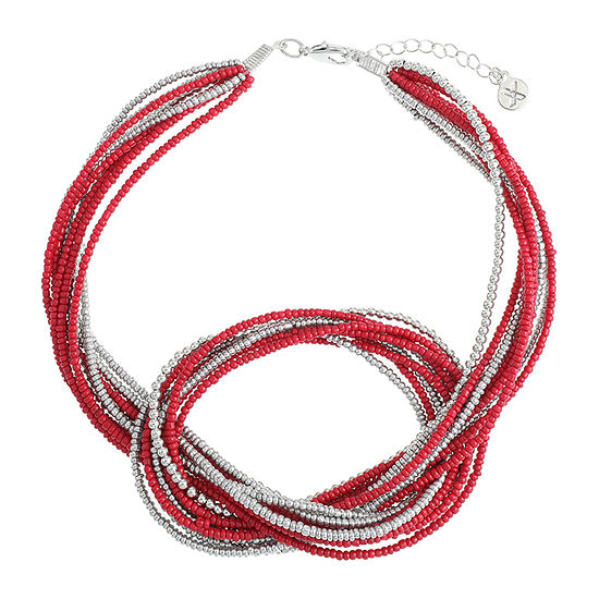 Mixit 17 Inch Bead Collar Necklace