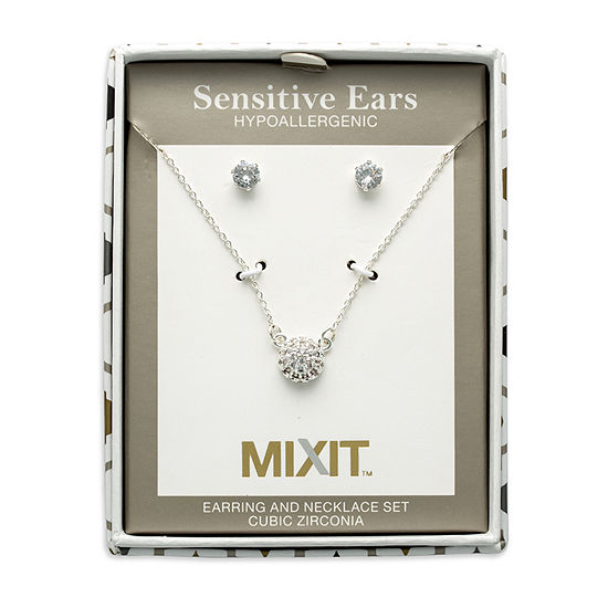 Mixit Hypoallergenic 2-pc. 18 Inch Cable Necklace Set
