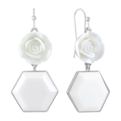 Liz Claiborne Flower Drop Earrings