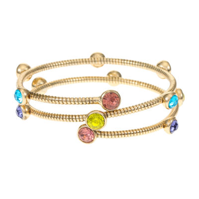 Monet Jewelry Gold Tone Omega Bangle Bracelet