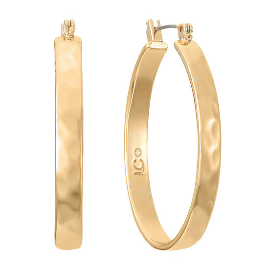 Liz Claiborne Oval Hoop Earrings