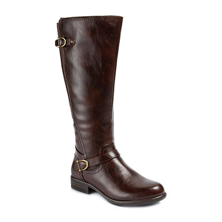 Wearever Shoes Womens Betta Stacked Heel Riding Boots, 6 1/2 Medium, Brown