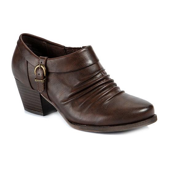 Wearever Shoes Womens Stacked Heel Ryder Booties
