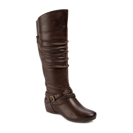 Wearever Shoes Womens Seymore Wedge Heel Riding Boots