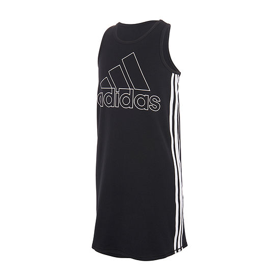 adidas Big Girls Sleeveless T-Shirt Dress
