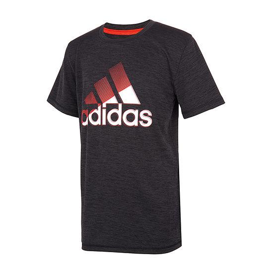 adidas Big Boys Round Neck Short Sleeve Graphic T-Shirt