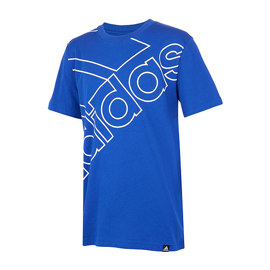adidas Big Boys Round Neck Short Sleeve Graphic T-Shirt
