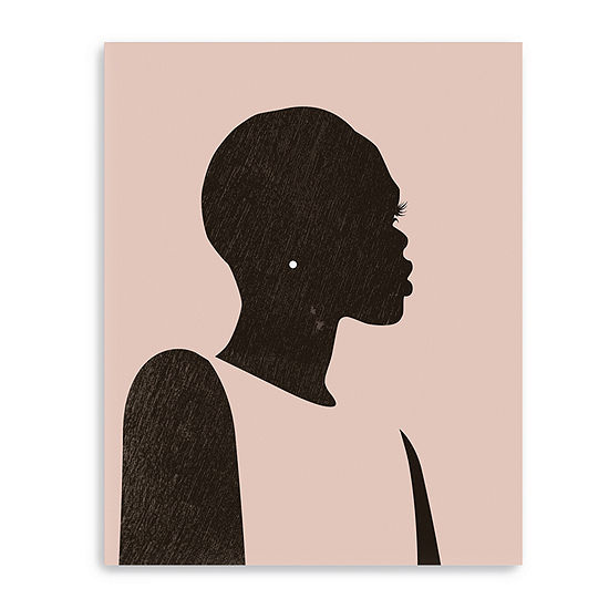 Pink Silhouette Ii Canvas Giclee Canvas Art