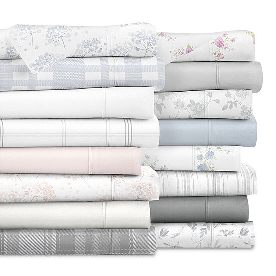 Ienjoy Home Solid and Print Flannel Sheet Set