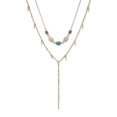 a.n.a Reconstituted Turquoise 28 Inch Cable Strand Necklace