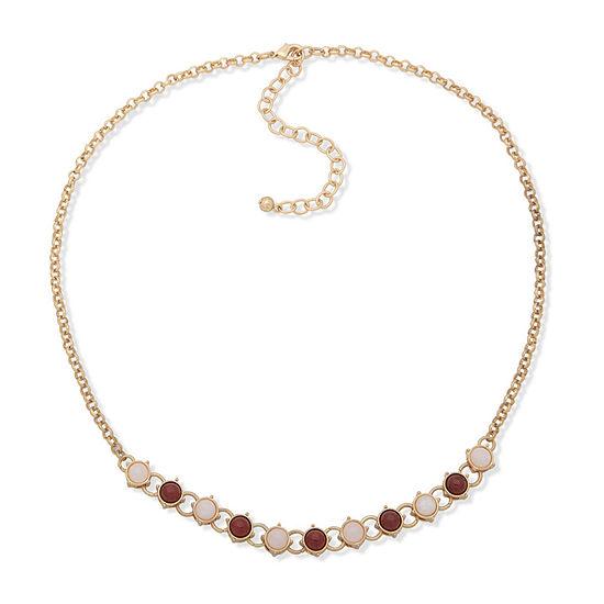 a.n.a Semi Precious Jasper 16 Inch Cable Collar Necklace