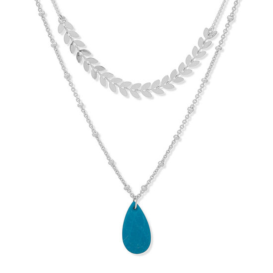 a.n.a 28 Inch Bead Pendant Necklace