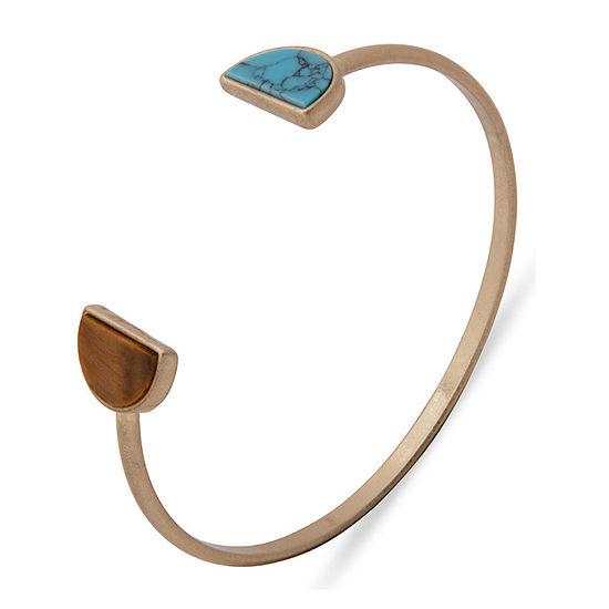 a.n.a Semi Precious Tiger's Eye Cuff Bracelet