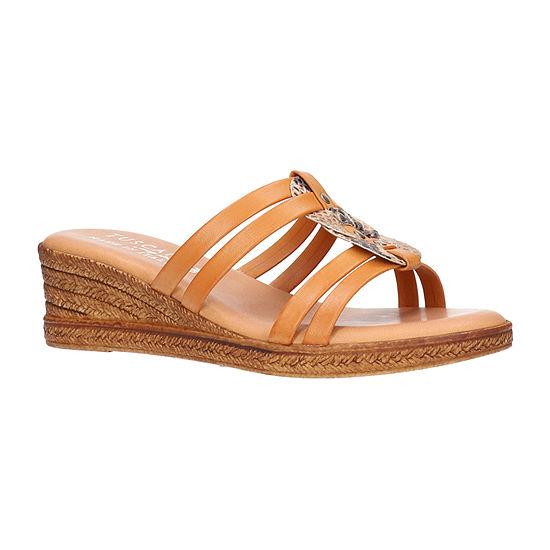 Easy Street Womens Micola Wedge Sandals