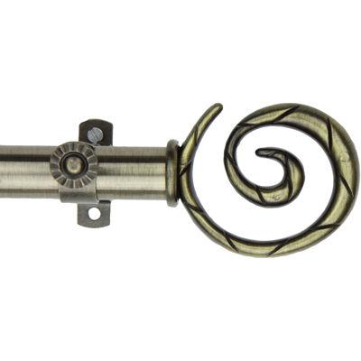 "Rod Desyne 13/16"" Adjustable Curtain Rod with Spiral Finials"