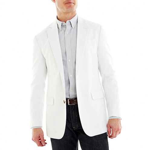 Stafford® Linen-Cotton Sport Coat - Slim