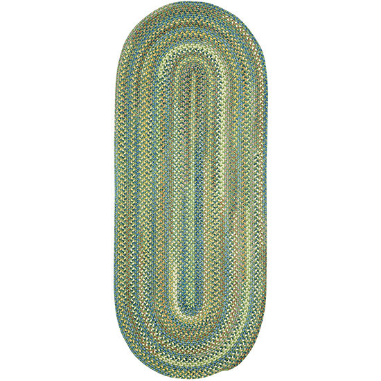 Capel American Traditions Braided Wool Oval Runner Rug