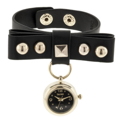 Decree® Studded Leather Watch